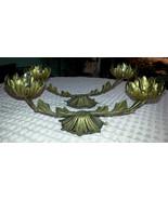 Vintage Pair of Goldtone Metal Candleholders Candle Holders FANCY - $21.56