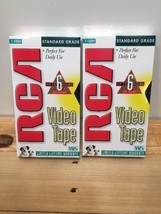 2 RCA Standard Grade Video VHS Tape T-120H 6 hours Each Factory Sealed NEW - $12.20