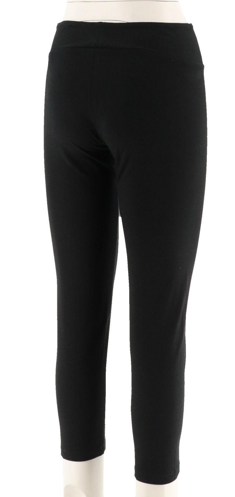 Women with Control Petite Tummy Control Ankle Pants Black PXS NEW A286521