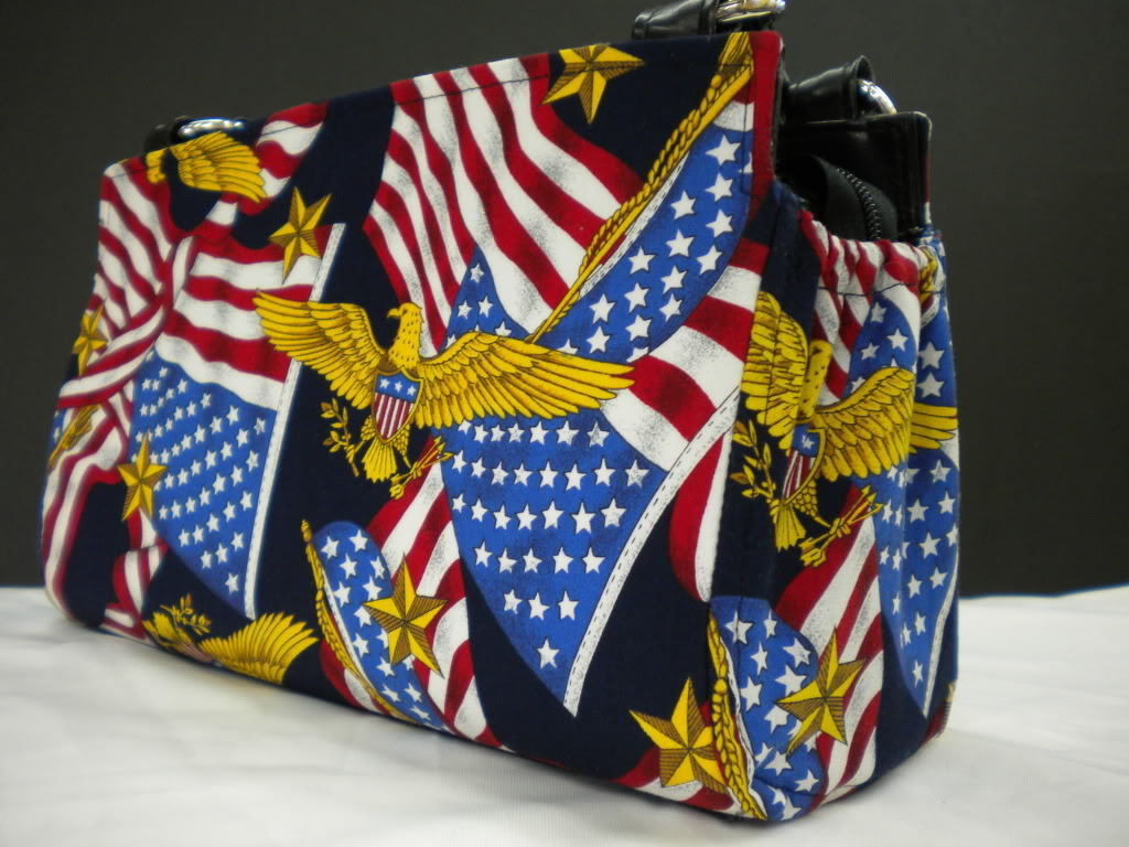 Flag & Eagle Magnetic Shell Slipcover to Cover Classic Base Bag or Shelly Purse