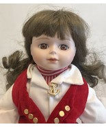 """MYD Doll Porcelain And Fabric  16"""" With Stand - $11.30"""