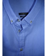Mens casual button down shirt lavender blue pre washed cotton twill,reat... - $29.50