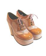 1970s Authentic Vintage Platform Shoes Pink & Orange - $200.00