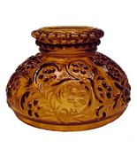 Oil Lamp Shade Amber Gold Glass Miniature 4 inc... - $19.95