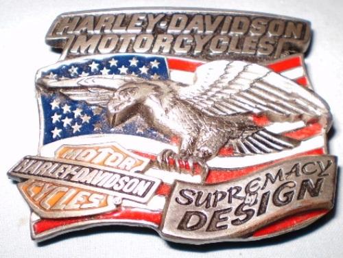 Vintage Harley-Davidson Supremacy by Design Belt Buckle by Baron ©1994