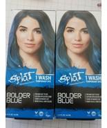 Splat Rebellious Color 1 wash Temporary Hair Color Dye BOLDER BLUE NEW q... - $7.25