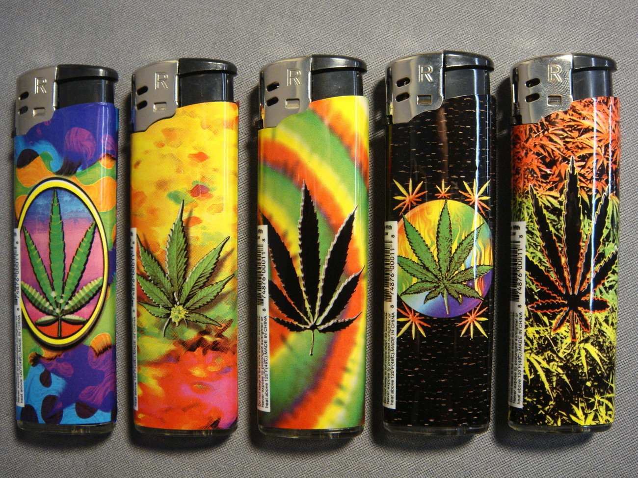 Primary image for MARIJUANA HEMP LEAF LOGO BUTANE LIGHTER NEW 420 SET OF 5