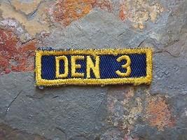 Vintage Boy Scouts Patch Den 3 Bsa Old Vtg America Antique Cub Scouts - $7.25