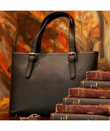 Concealed Carry Ambidextrous Leather Tote Briefcase Handbag Purse - Black  - $269.00
