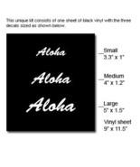 ALOHA - 3rd Third Brake Light Vinyl Decal Mask Kit Vinyl Color: Black - $11.99