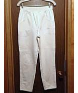 White Jeans Cascade Blues Elastic Band Used Clothing - $9.99