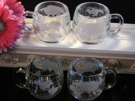 Vintage Nestle Crystal World Mugs Set Coffee or Tea Mugs, Set of Four, 1... - $24.99