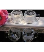 Vintage Nestle Crystal World Mugs Set Coffee or Tea Mugs, Set of Four, 1... - $24.99