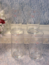 Vintage Corning Ware Corelle English Breakfast Glass or Tumbler Set of Four - $34.99