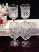 Vintage Anchor Hocking Crystal Wexford Footed Water Tea Beverage Glass Tumbler - $26.99
