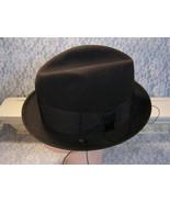 Vintage Stetson Hat Mens Twenty Five Black Fedora with Trolley Cord 1960... - $299.99