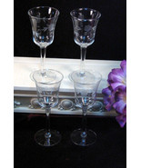 Vintage Princess House Crystal Heritage Wine Glass Sherry Brandy Set of ... - $54.99