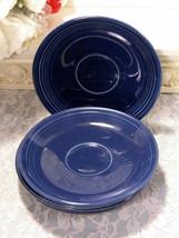 Vintage Homer Laughlin Fiesta Cobalt Blue Saucer, Original Dinnerware - $12.99