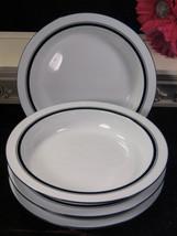 Dansk Danish Modern Christianshavn Bistro Blue Brasserie Flat Soup Bowl Set Six - $59.99