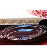 Vintage Imperial Glass Crystal Candlewick Crystal Oval Tray, Elegant Dep... - $34.99