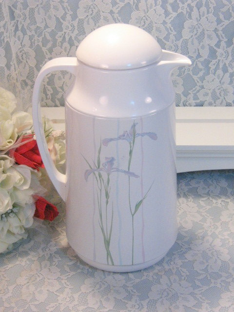 Primary image for Vintage Corelle Corning Shadow Iris Hot Cold Thermal Beverage Server, 1980s
