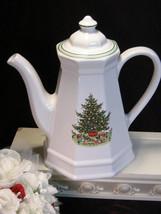 Vintage Pfaltzgraff Christmas Tree Heritage Tall Coffee Pot, 1980s Chris... - $39.99