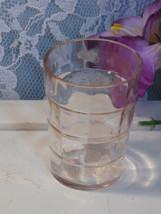 Vintage Hocking Block Optic Pink Shot Glass Depression Glass, 1930s Barware - $29.99