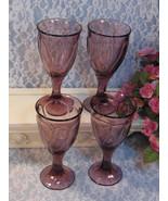 Noritake China Crystal Sweet Swirl Cranberry Purple Wine Water Goblet, S... - $59.99