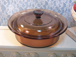 Vintage Corning Pyrex Brown Visions Cookware Glass Casserole 750ml 24 Ounce Size - $29.99