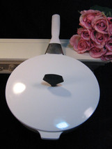Vintage Corning Ware Centura White Coupe Buffet Server or Skillet, Vintage Glass - $39.99