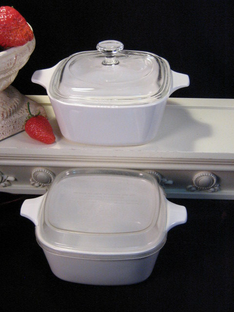 Primary image for Vintage Corning Ware Pyroceram White Centura White Coupe Individual Casserole