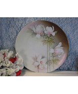 Antique R&S Prussia Hand Painted Porcelain Floral Large Charger Plate, V... - $134.99