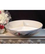 Lenox China Chinastone Poppies on Blue Three Part Divided Serving Dish Bowl - $59.99