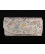 Vintage Sanko Floral Beaded Evening Bag, Clutch or Purse, Hand Made in H... - $28.99