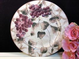 Vintage Oneida Dinnerware Veneto Grape Round Chop Platter Plate, Grape P... - $25.99