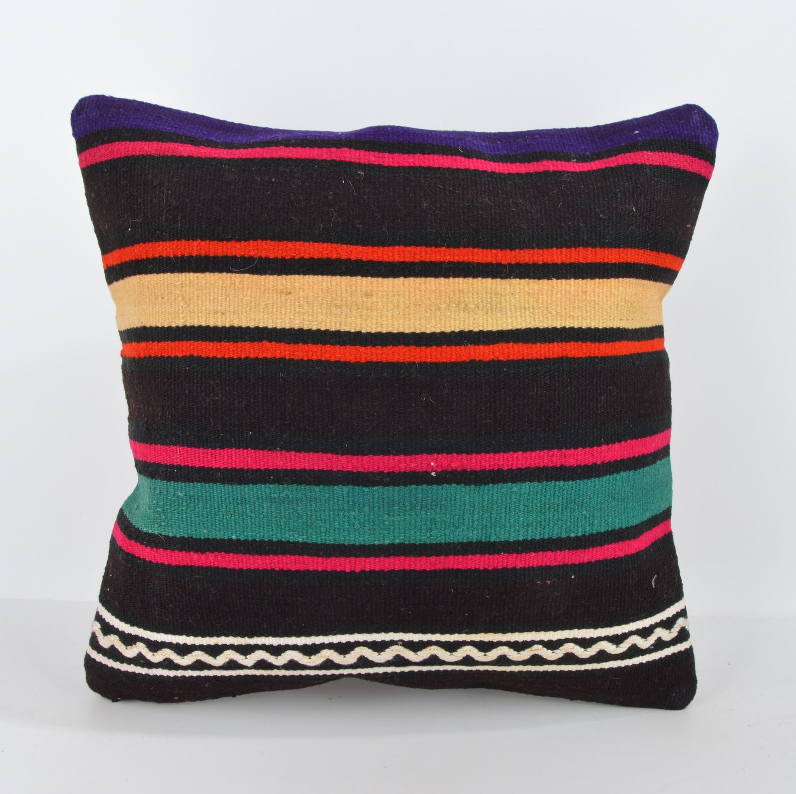 Cushion cover,Modern decor,Colorful pillow,Kilim Bolster,Rustic Decor 16x16 inch - Pillows