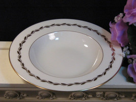 Vintage Lenox Fine China Golden Wreath Flat Soup Bowl, Mid Century Dinne... - $69.99