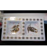 George Briard Gold Pink Glass Bird Tray Serving Mid Century Modern Dish - $47.99