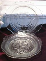 Vintage Jeannette Glass Crystal Iris Herringbone Depression Saucers Set ... - $29.99