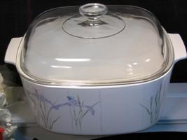 Vintage Corning Ware Shadow Iris 5 Liter Dutch Oven Casserole, 1980s - $59.99