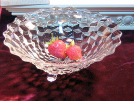 Vintage Fostoria Glass Crystal American Three Cornered Tri-Corner Consol... - $39.99