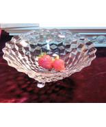 Vintage Fostoria Glass Crystal American Three Cornered Tri-Corner Consol... - $39.99