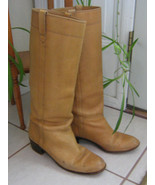 Vintage Tory Womens Ladies Tall Leather Riding or Cowboy Boots, 1980s  - $99.99