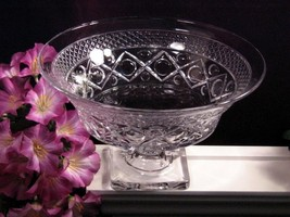 Imperial Glass Crystal Cape Cod Footed Console Bowl Vintage Elegant Glass - $49.99