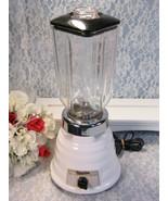 Vintage Original 1950s Oster White and Black Blender Model 448 Series A,... - $89.99