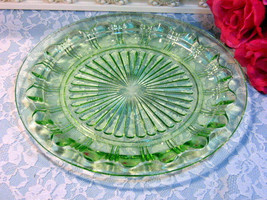 Green Depression Glass Colonial Knife and Fork ... - $84.99