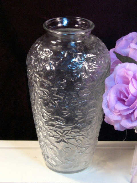Primary image for Vintage Princess House Fantasia Crystal Large Flower Vase, 1960s Mid Century