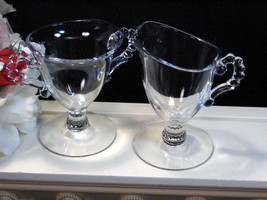Imperial Candlewick Individual Cream and Sugar Set, Glass Dinnerware - $24.99