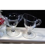 Imperial Candlewick Individual Cream and Sugar Set, Glass Dinnerware - $24.99