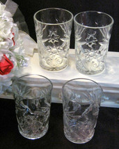 Vintage Anchor Hocking Early American Prescut EAPC Water Tumbler Glass Set of 4 - $27.99